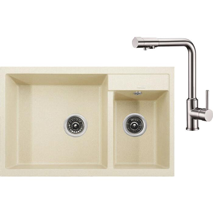 Кухонная мойка и смеситель Kaiser Granit KG2M-8050 Jasmine жасмин (KG2M-8050-J, 13044)