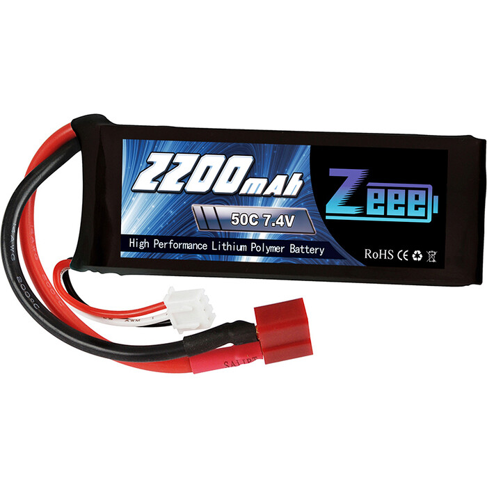 Аккумулятор Zeee Power 2s 7.4v 2200mah 50c