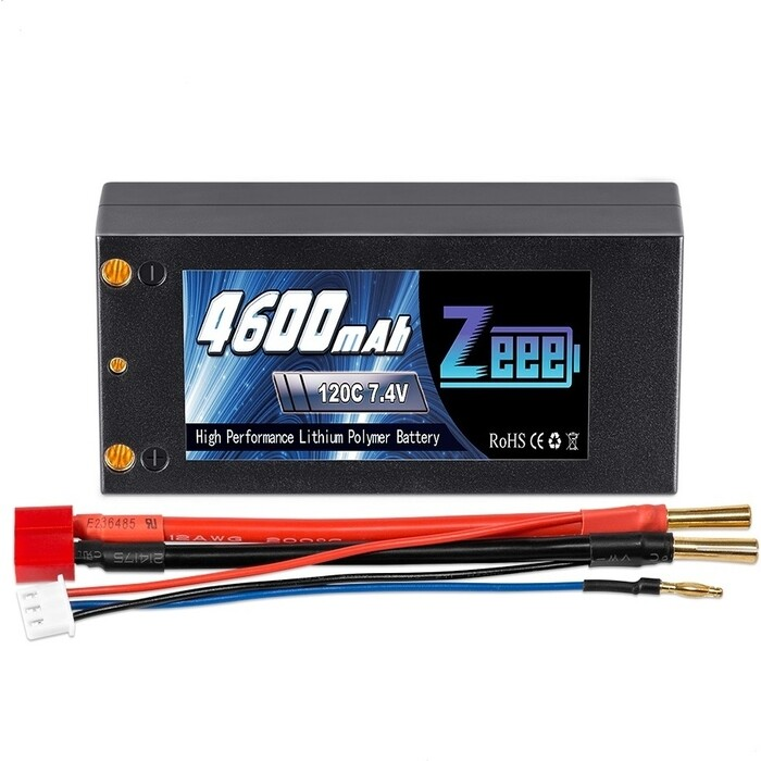 Аккумулятор Zeee Power 2s 7.4v 4600mah 120c (Short)