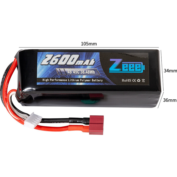 Аккумулятор Zeee Power Zeee Power 4s 14.8v 2600mah 45c SOFT
