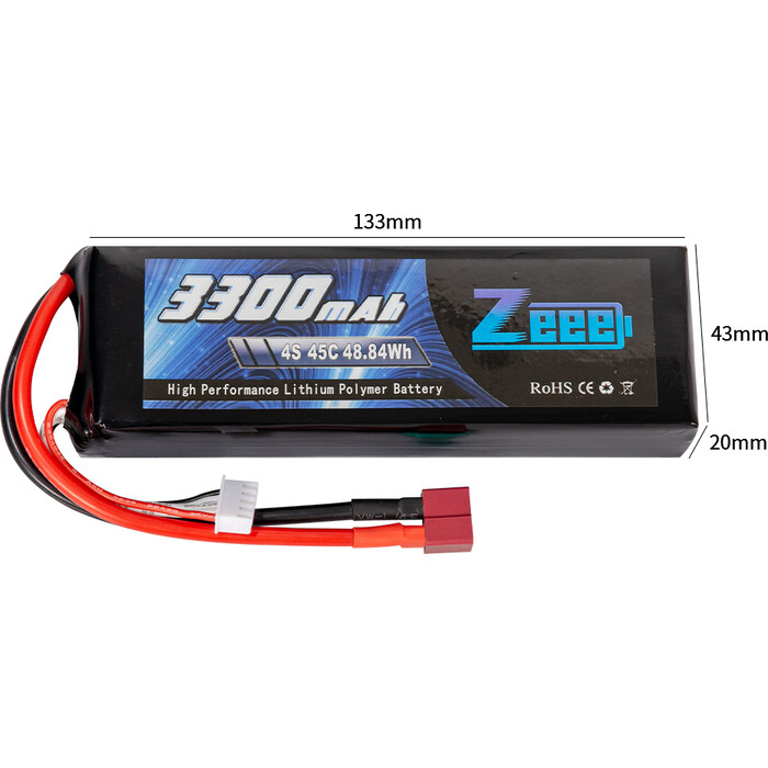 Аккумулятор Zeee Power Zeee Power 4s 14.8v 3300mah 45c SOFT