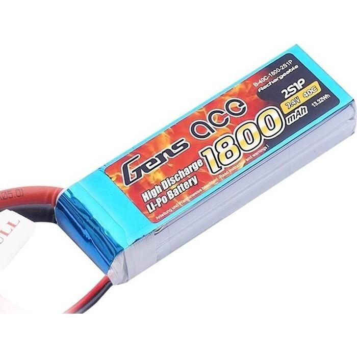 Аккумулятор Black Magic Li-Po - 7.4 В 1800 мАч 40C 2S1P (Разъём T-Plug)