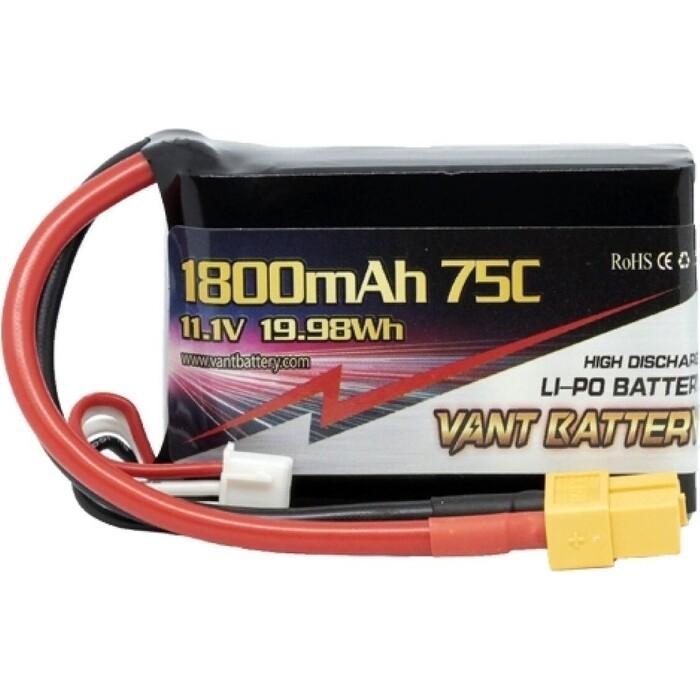 Аккумулятор Vant LiPo - 11.1 В 1800 мАч 75C 3S (Разъем XT60)