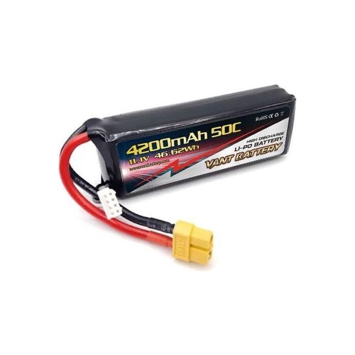 Аккумулятор Vant LiPo - 11.1 В 4200 мАч 50C 3S (Разъем XT60)