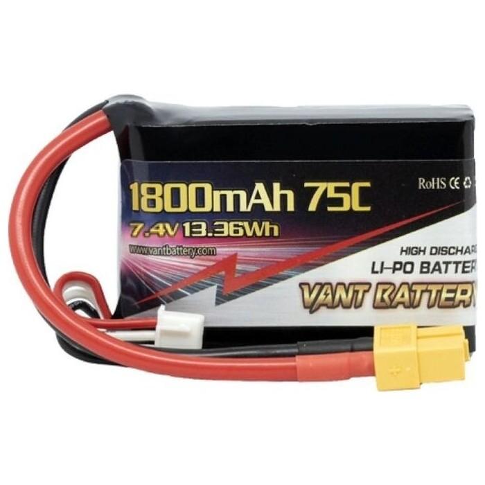 Аккумулятор Vant LiPo - 7.4 В 1800 мАч 75C 2S (Разъем XT60)