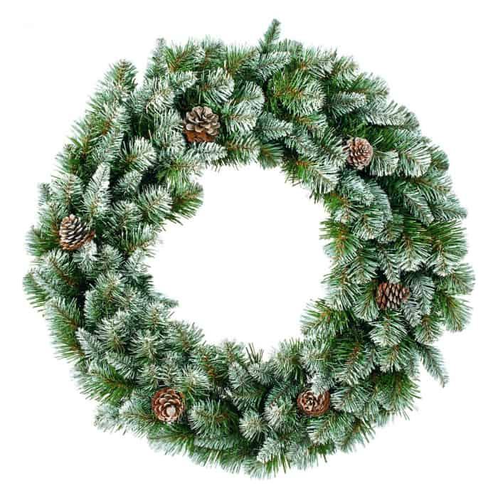 Венок новогодний Triumph Tree ИМПЕРАТРИЦА С ШИШКАМИ ДИАМ. 90 СМ ЗАСНЕЖЕННАЯ