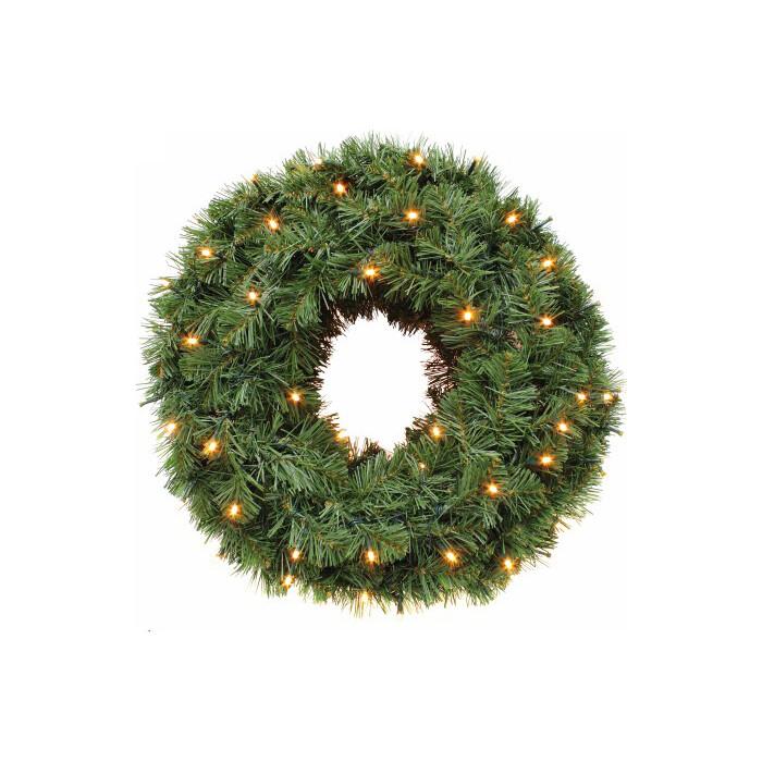 Венок-люстра новогодний Triumph Tree ЭЛЕГАНТНЫЙ 1 КОЛЬЦО ДИАМ. 60 СМ 144 ЛАМП ЗЕЛЕНЫЙ