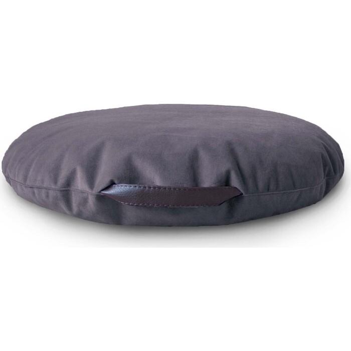 Подушка на пол Mypuff Сидушка антрацит мебельная ткань si_472