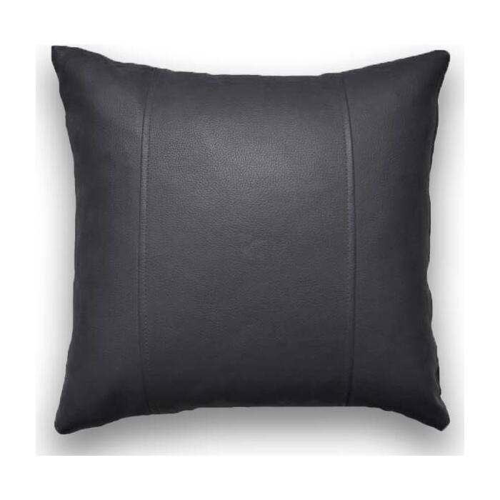 Декоративная подушка Mypuff Черная экокожа pil_283