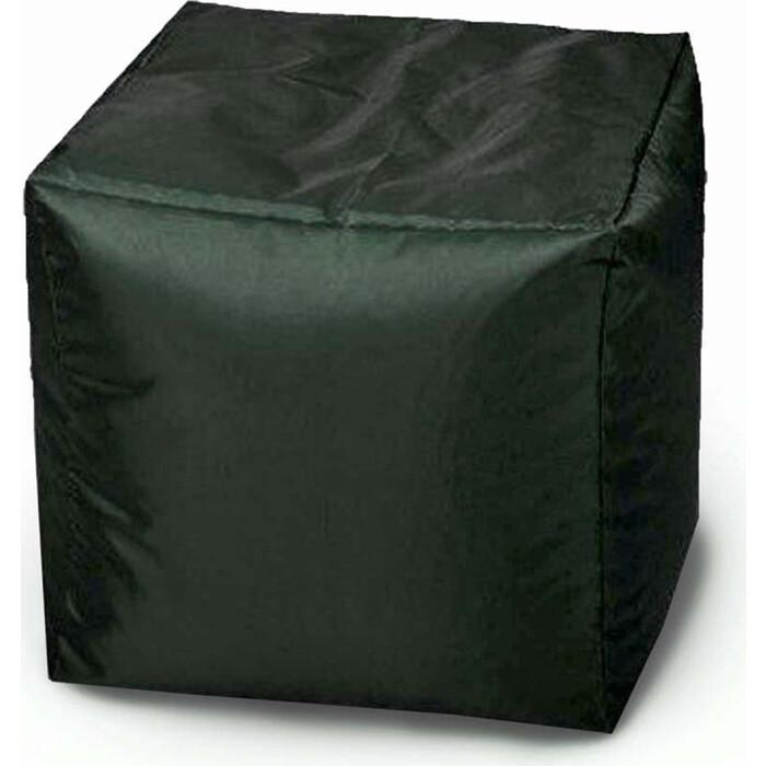 Пуфик бескаркасный Mypuff Кубик Темная трава оксфорд k_024