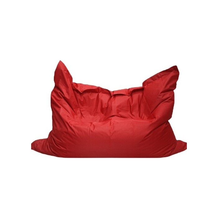 Кресло бескаркасное Mypuff Большая подушка красная оксфорд bp_025