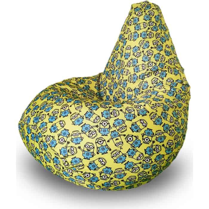 Кресло бескаркасное Mypuff Груша миньоны размер компакт принтованный оксфорд bm_593