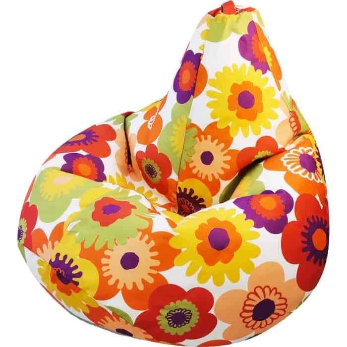 Кресло бескаркасное Mypuff Груша Пуэрто плата оранжевый размер компакт мебельный хлопок bm_318