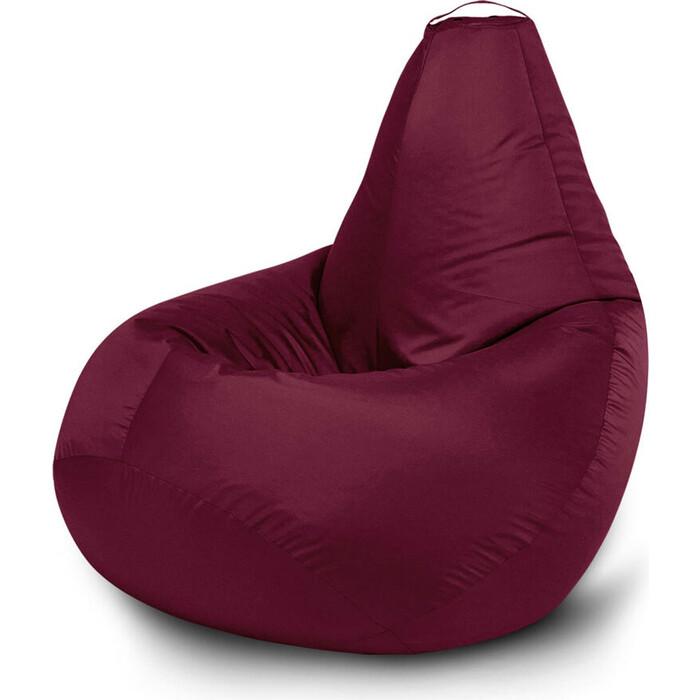 Кресло бескаркасное Mypuff Груша бордо размер компакт оксфорд bm_026
