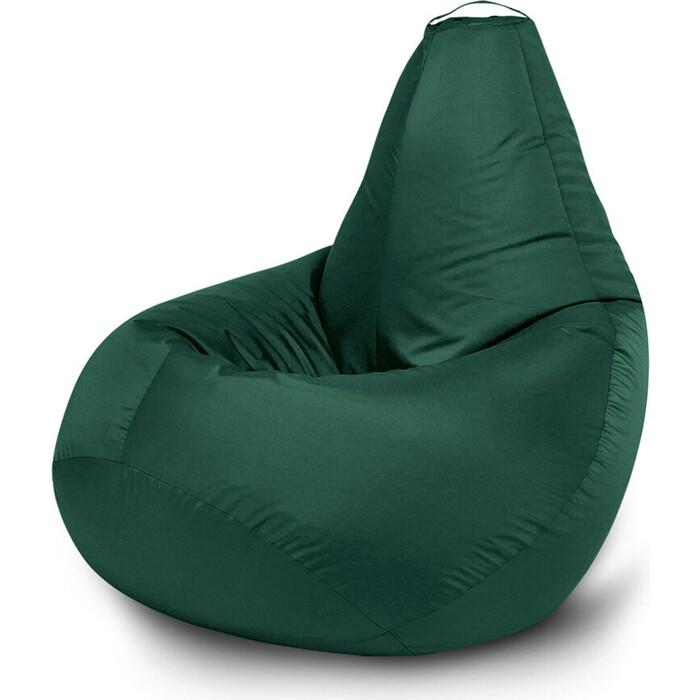 Кресло бескаркасное Mypuff Груша зеленый размер компакт оксфорд bm_024