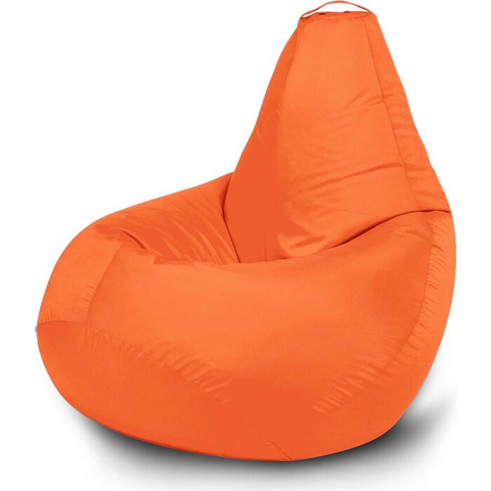 Кресло бескаркасное Mypuff Груша оранжевый размер компакт оксфорд bm_021