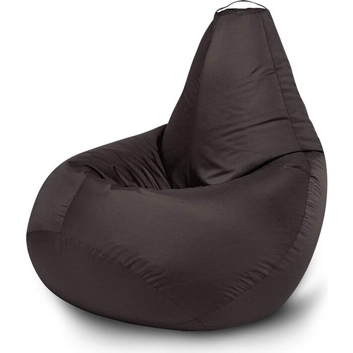 Кресло бескаркасное Mypuff Груша черный размер компакт оксфорд bm_020