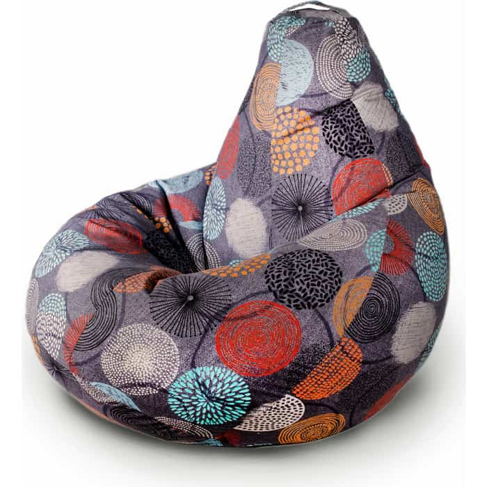 Кресло бескаркасное Mypuff Груша рингс размер комфорт мебельный хлопок bbb_511