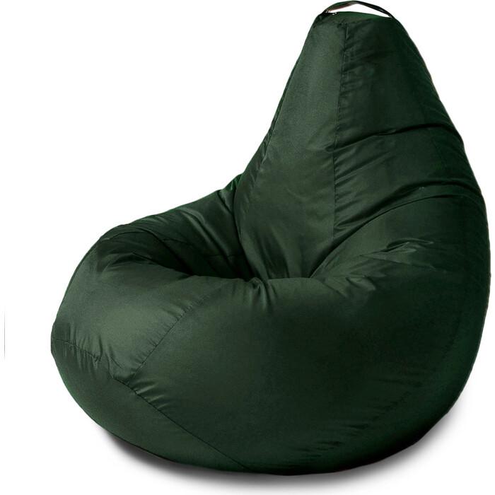 Кресло бескаркасное Mypuff Груша зеленый размер комфорт оксфорд bbb_024