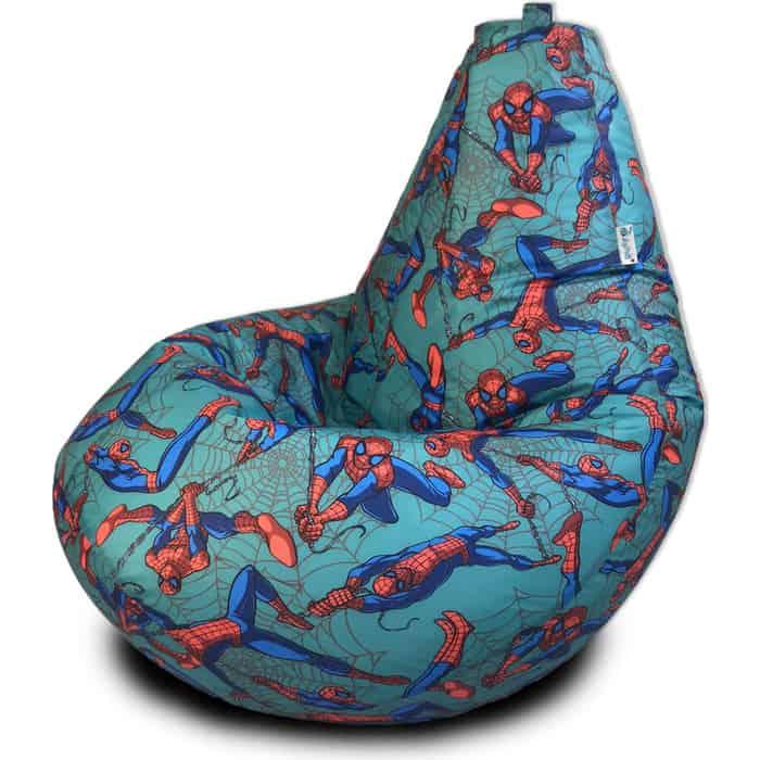 Кресло бескаркасное Mypuff Груша супер герой размер стандарт принтованный оксфорд b_607