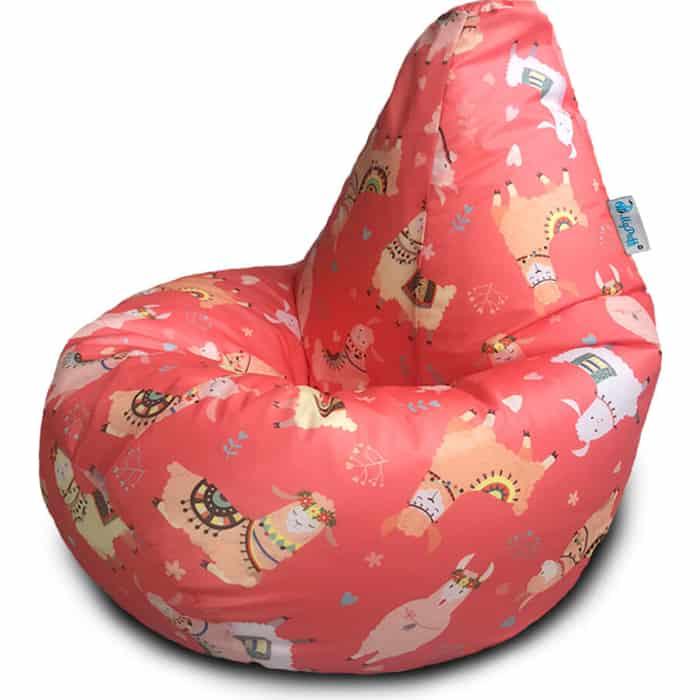 Кресло бескаркасное Mypuff Груша фэшн лама размер стандарт принтованный оксфорд b_604