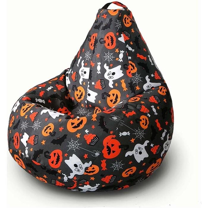 Кресло бескаркасное Mypuff Груша хеллоуин тыква размер стандарт мебельный хлопок b_552