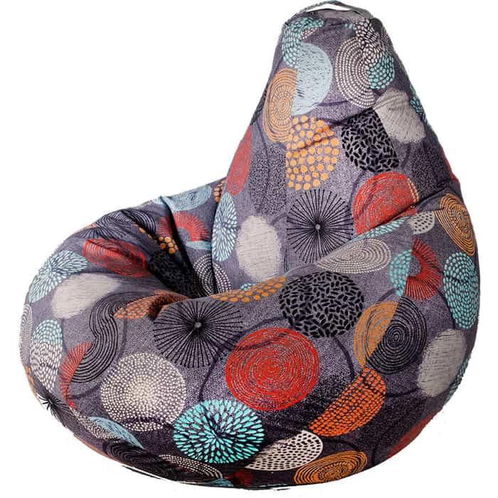 Кресло бескаркасное Mypuff Груша рингс размер стандарт мебельный хлопок b_511