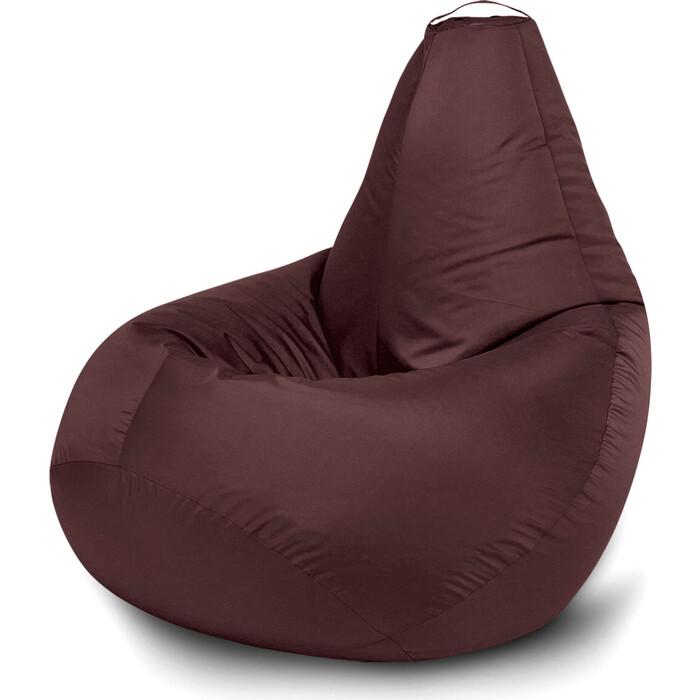 Кресло бескаркасное Mypuff Груша шоколад размер стандарт оксфорд b_022