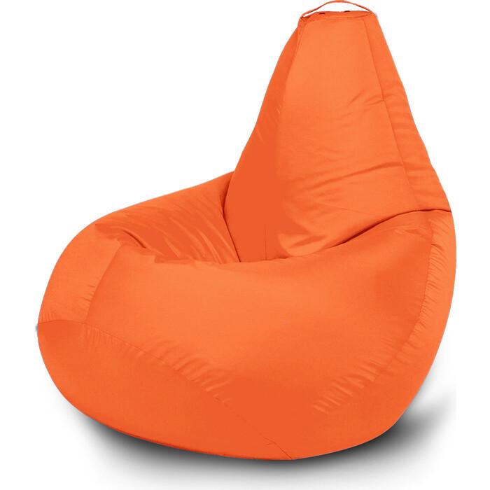 Кресло бескаркасное Mypuff Груша оранжевый размер стандарт оксфорд b_021