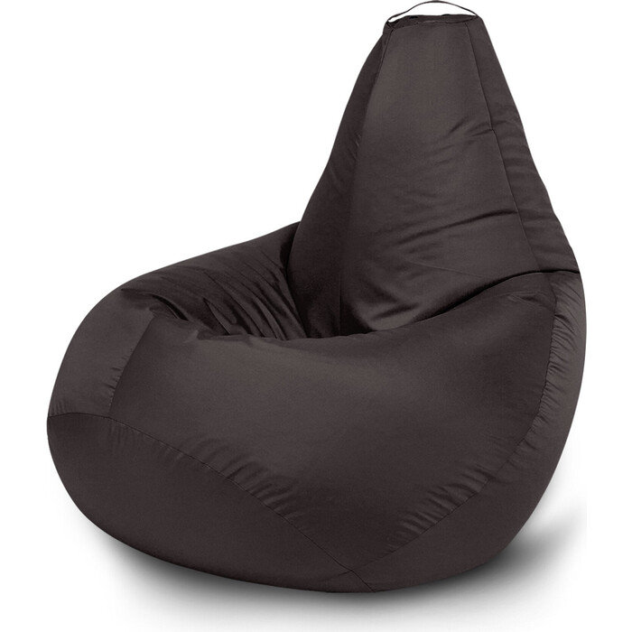 Кресло бескаркасное Mypuff Груша черный размер стандарт оксфорд b_020
