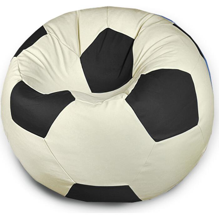 Кресло бескаркасное Mypuff Футбольный мяч дружба экокожа ball_056_057