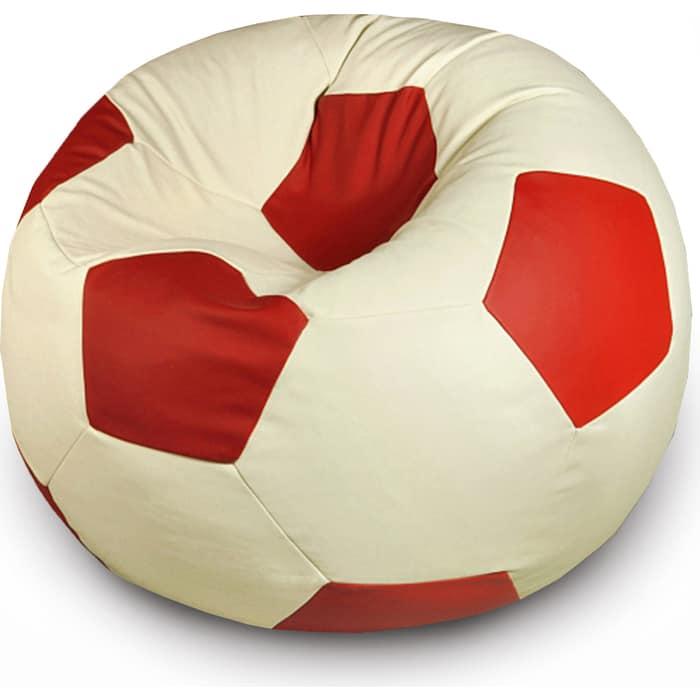 Кресло бескаркасное Mypuff Футбольный мяч Спартак экокожа ball_056_055