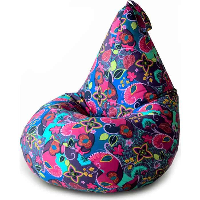 Кресло бескаркасное Mypuff Груша сказки Востока размер компакт мебельный хлопок bm_357