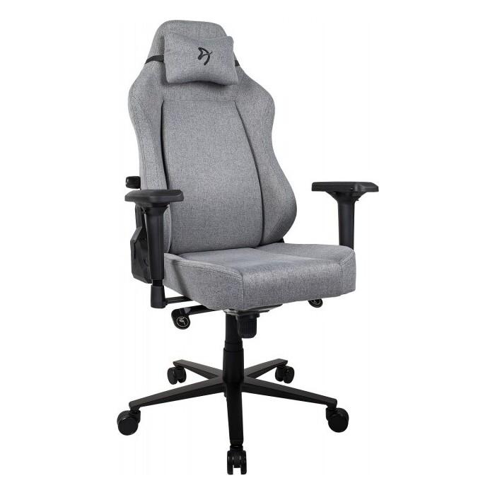 Компьютерное кресло для геймеров Arozzi Primo Woven fabric grey-black logo