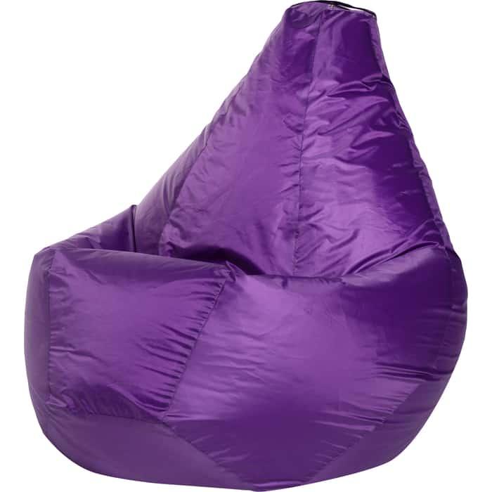 Кресло-мешок Bean-bag Груша фиолетовое оксфорд XL