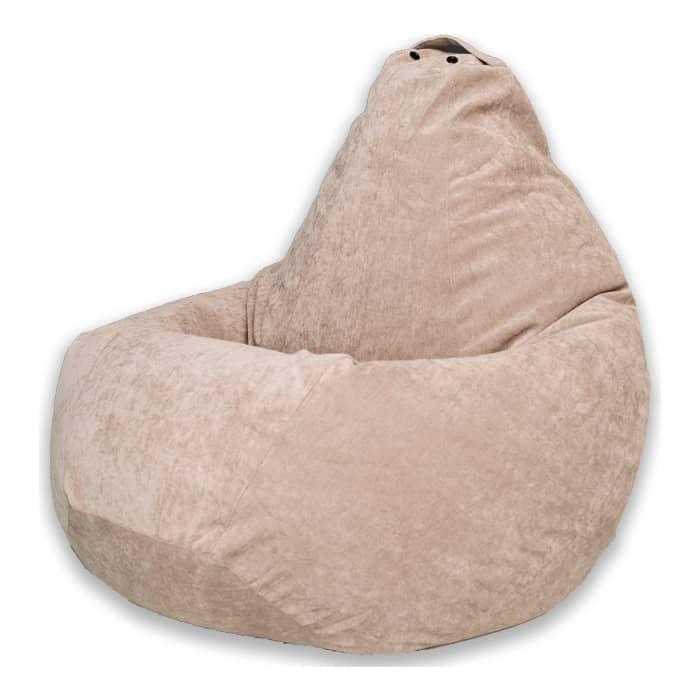 Кресло-мешок Bean-bag Груша бежевый микровельвет XL