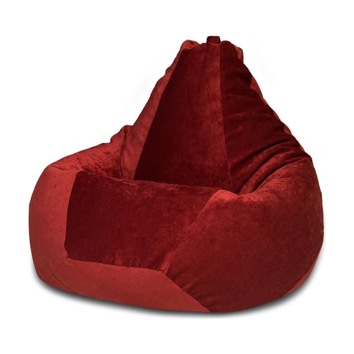 Кресло-мешок Bean-bag Груша бордовый микровельвет XL
