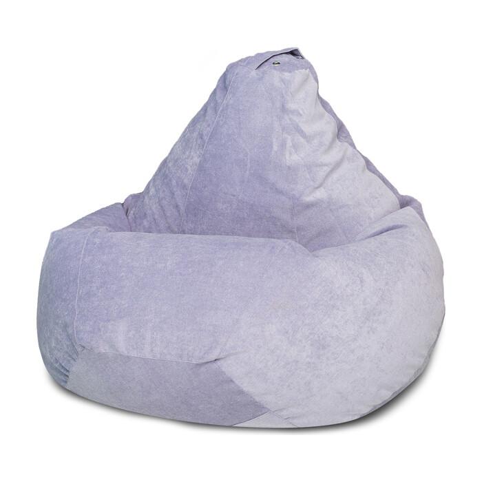 Кресло-мешок Bean-bag Груша лавандовый микровельвет XL