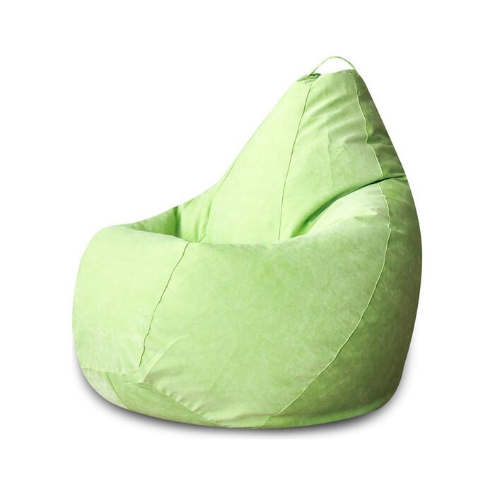 Кресло-мешок Bean-bag Груша салатовый микровельвет XL