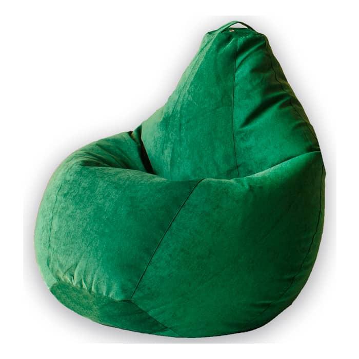Кресло-мешок Bean-bag Груша зеленый микровельвет XL
