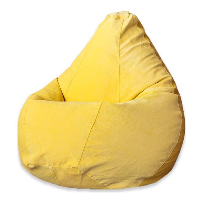 Кресло-мешок Bean-bag Груша желтый микровельвет XL
