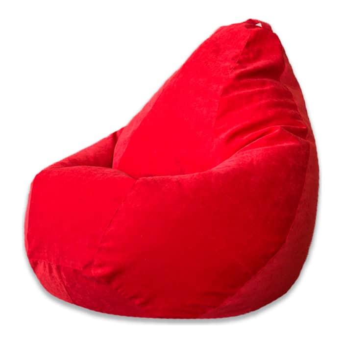 Кресло-мешок Bean-bag Груша красный микровельвет XL