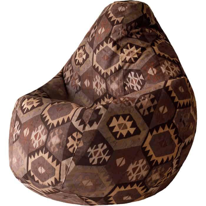 Кресло-мешок Bean-bag Груша мехико коричневое XL