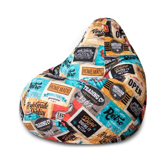Кресло-мешок Bean-bag Груша лейбл XL
