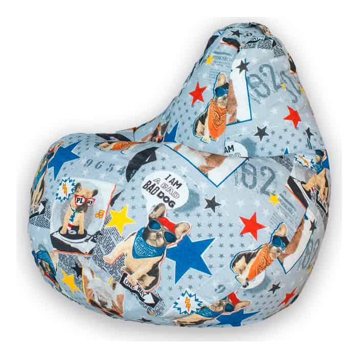 Кресло-мешок Bean-bag Груша бульдоги XL