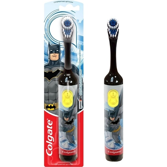Электрическая зубная щетка Colgate CN07552A Batman, черная