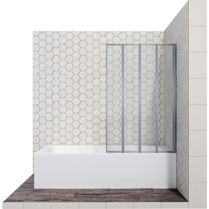 Шторка для ванной Ambassador Bath Screens 90 прозрачная, хром (16041110R)