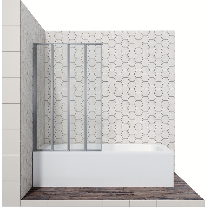 Шторка для ванны Ambassador Bath Screens 100 левая, прозрачная, хром (16041111L)