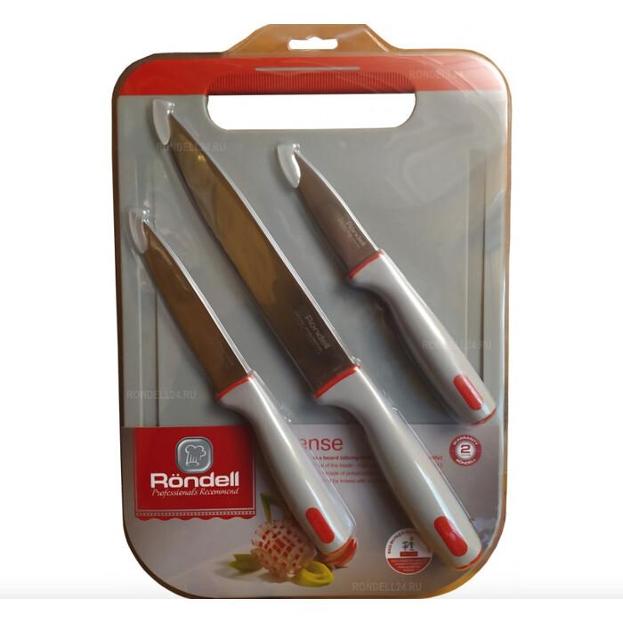 Набор ножей 3 шт с разделочной доской Rondell Intense (RD-1265)