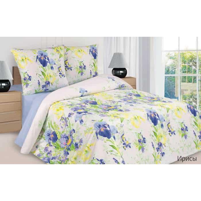 Комплект постельного белья Ecotex Поэтика Евро Ирисы (4660054347603)